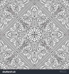 Seamless Abstract Tribal Pattern.  Hand Drawn Ethnic Texture.  Vector Illustration.