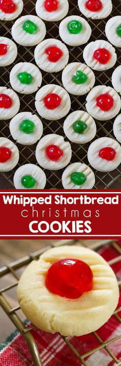 Whipped Shortbread Cookies that will melt in your mouth and are made with just a few ingredients. Christmas is just a week away and these cookies are always popular for holiday parties and cookie exchanges. #christmascookies #shortbreadcookies