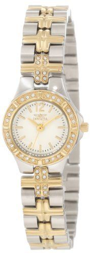 Invicta Women's 0127 Wildflower Collection Crystal Accented Stainless Steel Watch Invicta. $69.99. Water-resistant to 165 feet (50 M). White dial with gold-tone hands and hour markers. Durable flame-fusion crystal; brushed and polished 18k gold-plated and silver-tone stainless steel case and bracelet. Precise Swiss-quartz movement. Austrian crystals set on bezel and bracelet. Save 93%!