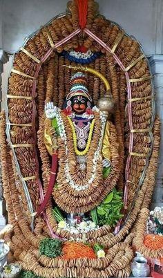 ⚘Alankara to Karya Siddhi Hanuman in S.S Ashrama Mysore. ( with vadas). Shri Hanuman, Sai Baba Photos, Hindu Mantras, Goddess Lakshmi, Lord Vishnu, God Pictures, Indian Gods, Gouache Painting, Ganesha