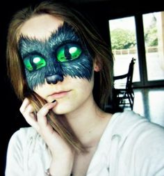 That is some crazy make up work! Cheshire cat make up! Gato Alice, Crazy Eye Makeup, Fantasy Make Up, Theatrical Makeup, Special Effects Makeup, Creative Makeup, Costume Makeup, Face Art, Makeup Art