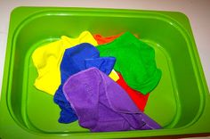 The Princess and the Tot:: tot tray ideas, this one is folding washcloths--great!