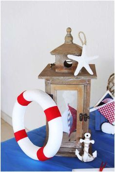 Nautical baby shower party decorations! See more party ideas at CatchMyParty.com!