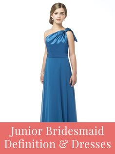 Junior bridesmaid dresses and duties.