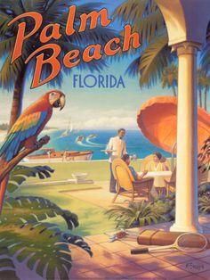 Palm Beach, Florida Print by Kerne Erickson at Art.com