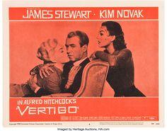A poster for Alfred Hitchcock's 1958 thriller 'Vertigo' starring James Stewart and Kim Novak. Vertigo Movie, Vertigo Alfred Hitchcock, Hitchcock Film, Cult Movies, Scary Movies, James Novak, Kim Novak, Marilyn Monroe Photos, Gifts