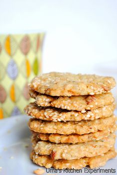 Savory Oat Crackers -- switch out regular flour for something else.  These sound very good.  Probably too good.