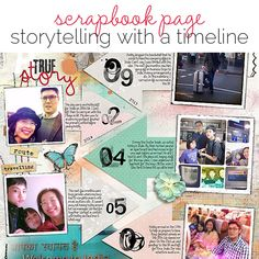 #papercraft #scrapbook #layout. Ideas for Scrapbook Page Storytelling with a Timeline | Get It Scrapped
