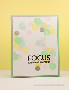 Focus by Cheiron Brandon for the Simon Says Stamp Wednesday challenge (Back to School) August 2014