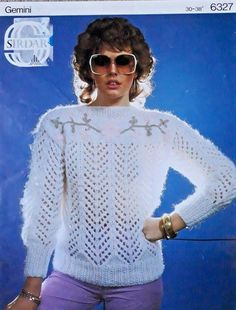 787e868f9e4 Details about Vintage   retro knitting pattern Sirdar 6327 ladies chunky  lacy pattern sweater