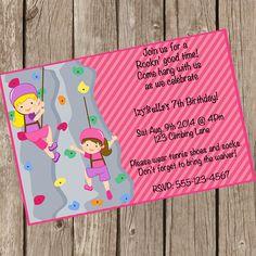 DETAILS ♥♥♥ ♥♥♥ Mädchen Rock Klettern Geburtstags-Einladung KOSTENLOSE 5 x 7 PDF-Dankeschön-Karte sowie enthalten! Anweisungen ♥♥♥ ♥♥♥ An der Kasse bitte Liste folgende in den Erläuterungen zum Verkäufer Abschnitt: ♥ Name & Alter ♥ Veranstaltungsdatum & Zeit ♥ Ortsnamen ♥ Adresse ♥ RSVP Informationen Format: JPG ist für Foto-Druck und hochladen für Evite empfohlen. PDF ist für die Karte Lager Druck empfohlen. 1-2 Werktage später erhalten Sie Ihre Einladung, wenn Sie die Anstur...