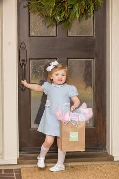 """""""Faye Pink"""" Blue Dress is from our Fall 2018 collection. Be sure to grab it before it's gone! Cute Little Girl Dresses, Little Girl Outfits, Toddler Girl Outfits, Toddler Dress, Pink And Blue Dress, Blue Dresses, Pink Blue, Cute Kids Fashion, Baby Girl Fashion"""