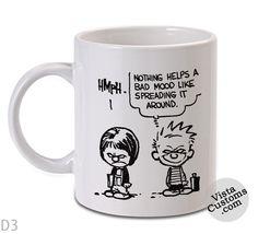 CAlvin and Hobbes Quote 4 Mug, Coffee mug coffee, Mug tea, Design for mug