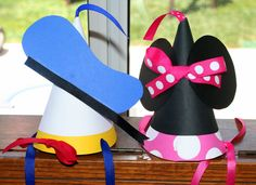 Mickey Mouse Party Donald and Minnie Hats