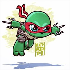 Super Lil TMNT: Raph!! Feel like drawing some heroes in a half shell…more to…