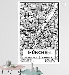 Munster City Map Design Stadtplan Karte Farbverlauf City