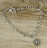 Single Nickel Bullet Charm Bracelet