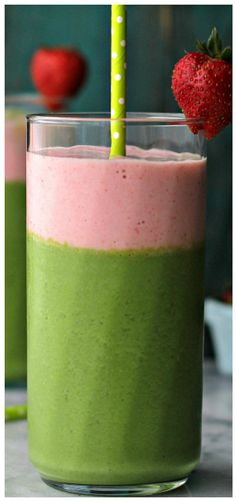Green Berry Smoothie – Wake up to a delicious protein boost with this yogurt-based smoothie that's loaded with kale, strawberries, bananas and apples.