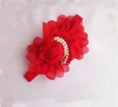 RED Headband for Baby Girls,Infant Girls,Toddler Girls-Photography Wedding