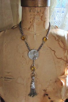 Joan of Arc necklace religious tassel open by madonnaenchanted