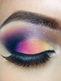 Colorfull make up rainbow