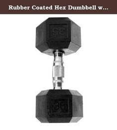 Rubber Coated Hex Dumbbell with Contoured Chrome Handle [Set of 2] Weight: 35 lbs. SDR-035 Weight: 35 lbs Features: -Hex shaped dumbbells with rubber coated heads and chromed contoured handles. -Black color. -This product contains one or more chemicals known to the State of California to cause cancer, birth defects or other reproductive harm. Product Type: -Dumbbells. Quantity: -Single. Weight Range: -< 5 Lbs./5-30 Lbs./31-60 Lbs./60+ Lbs.. Material: -Rubber. Dimensions: -Holding…