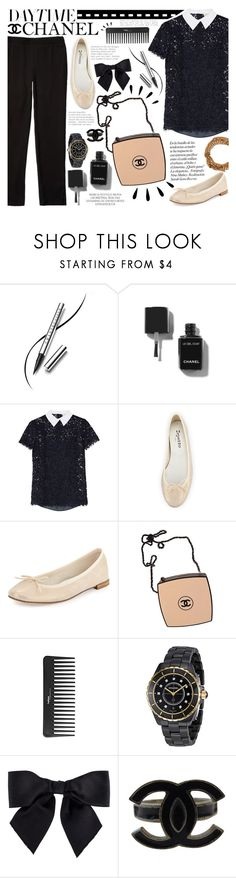 """Daytime Chanel"" by igedesubawa ❤ liked on Polyvore featuring Chantecaille, Chanel, Magdalena, MICHAEL Michael Kors, Repetto, Old Navy, Sephora Collection, casualoutfit and flatshoes"