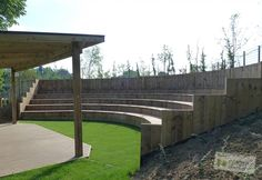 School Library stage ampitheatre seating | Grove Senior School | Timotay Playground Design and Equipment