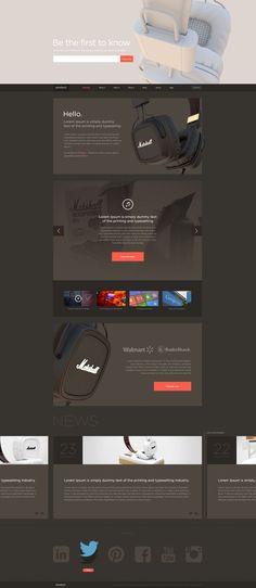 #web design, dark, clean and minimal: