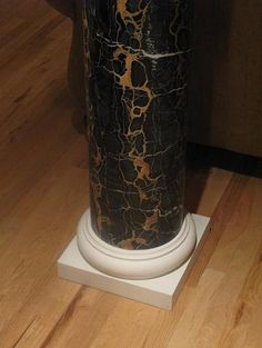 Marc Potoscky is a leader and an instructor in the… Marble Pillar, Cherry Wood Cabinets, Black And Gold Marble, Faux Painting, Nyc, Design Case, Stencil Designs, Painting Inspiration, Art Decor