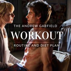 Andrew Garfield Workout Routine and Diet Plan: Train like Spider-Man Superman Workout, Superhero Workout, Andrew Garfield Spiderman, Spartacus Workout, Abs Workout Video, Celebrity Workout, Gym Workouts, Workout Routines, Get In Shape