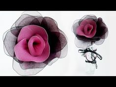 D.I.Y Nylon Flowers + How to Dye Nylon (Repurposing Ripped Pantyhose) - YouTube