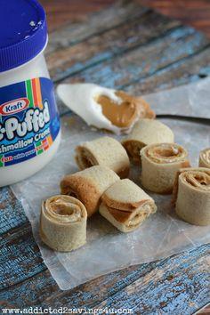 Peanut Butter and Marshmallow Roll Up Recipe #bestrecipe #DIY #kidfriendly #rollups