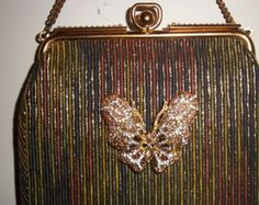 Fly Butterfly Embellished Vintage Purse
