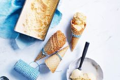 For an easy dessert scoop up this creamy homemade vanilla ice-cream at your next family gathering. Easy Desserts, Delicious Desserts, Egg Yolk Recipes, Leftovers Recipes, Homemade Vanilla, Vanilla Ice Cream, Ice Cream Recipes, Frozen Treats, Food Processor Recipes