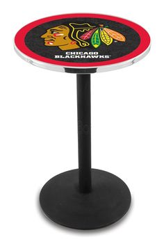 Use this Exclusive coupon code: PINFIVE to receive an additional 5% off the Chicago Blackhawks Round-Base Bar Table - Black at SportsFansPlus.com