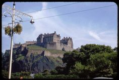 Edinburgh Castle from Princes Street, 1953.
