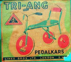 Triang toys advert from the for their tricycle and pedal car range . Childhood Toys, Childhood Memories, Old Fashioned Toys, Vintage Packaging, Thanks For The Memories, Ol Days, Classic Toys, The Good Old Days, Vintage Dolls
