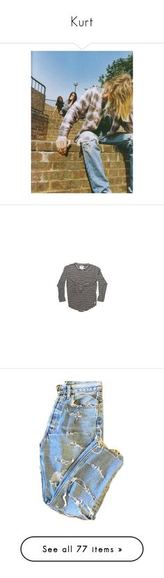 """""""Kurt"""" by flowersoflife ❤ liked on Polyvore featuring nirvana, kurt cobain, pictures, tops, t-shirts, shirts, long sleeved, t shirts, long sleeve tops and long-sleeve shirt"""