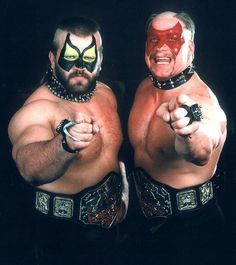 We snack on danger. We dine on death. And dead men don't make money! The road warriors as AWA champions. Awa Wrestling, Watch Wrestling, Wrestling Stars, Wrestling Superstars, The Road Warriors, Professional Wrestling, Wwe Wrestlers, Teenage Mutant, Titanic