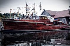 Hardanger Wooden Boat Festival 2013 in Norway - Visitors' Award Price Winner M/Y Mathilde built 1931. Photo by Mariusz Marczak.