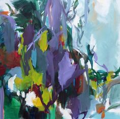 """Saatchi Art Artist Ute Laum; Painting, """"The birds and the bees, the flowers and the trees III"""" #art"""