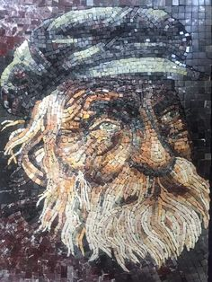 Mosaic Portrait, Mosaic Art, Textile Art, Abstract, Face, Bouquets, Portraits, People, Faces