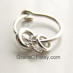 cartilage earrings silver cartilage hoop earrings with by GraceG1, $33.95