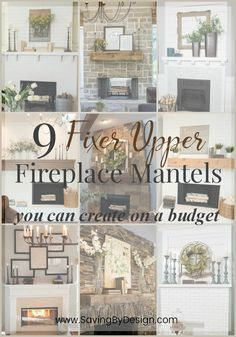 Seriously, is anyone else as addicted to Fixer Upper as me?! Here are 9 Fixer Upper fireplace mantel decor ideas you can create on a budget...which will you choose?
