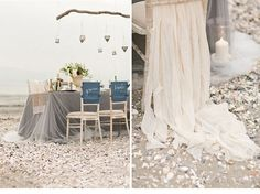city sea beach shoot 0011 i love the shades of tulle used for the table its totally awesome. even though it seems to be an overcast day, the colors everything is just perfect for the shoot