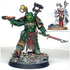 Intercessor with Auxiliary Grenade Launcher. The member of my Salamanders Intercessor squad. Currently working on finishing the last… Warhammer Figures, Warhammer Paint, Warhammer 40k Art, Warhammer Models, Warhammer 40k Miniatures, Warhammer 40k Salamanders, Salamanders Space Marines, Into The Fire, War Dogs