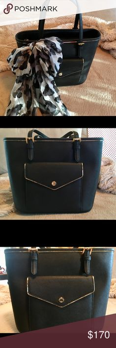 Michael Kors Saffiano Frame Medium Leather Tote Lovely Michael Kors  saffiano frame medium leather tote in 7863577117d28