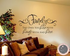 Family Wall Decals  Family Life  Wall by FourPeasinaPodVinyl, $22.00