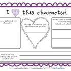 FREE Valentine's Day graphic organizer- I heart this character! Perfect for primary students!